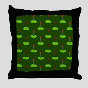 'Golf Course' Throw Pillow